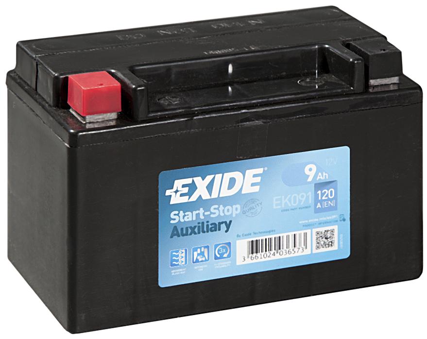 Аккумулятор Exide EK091, арт. EK091