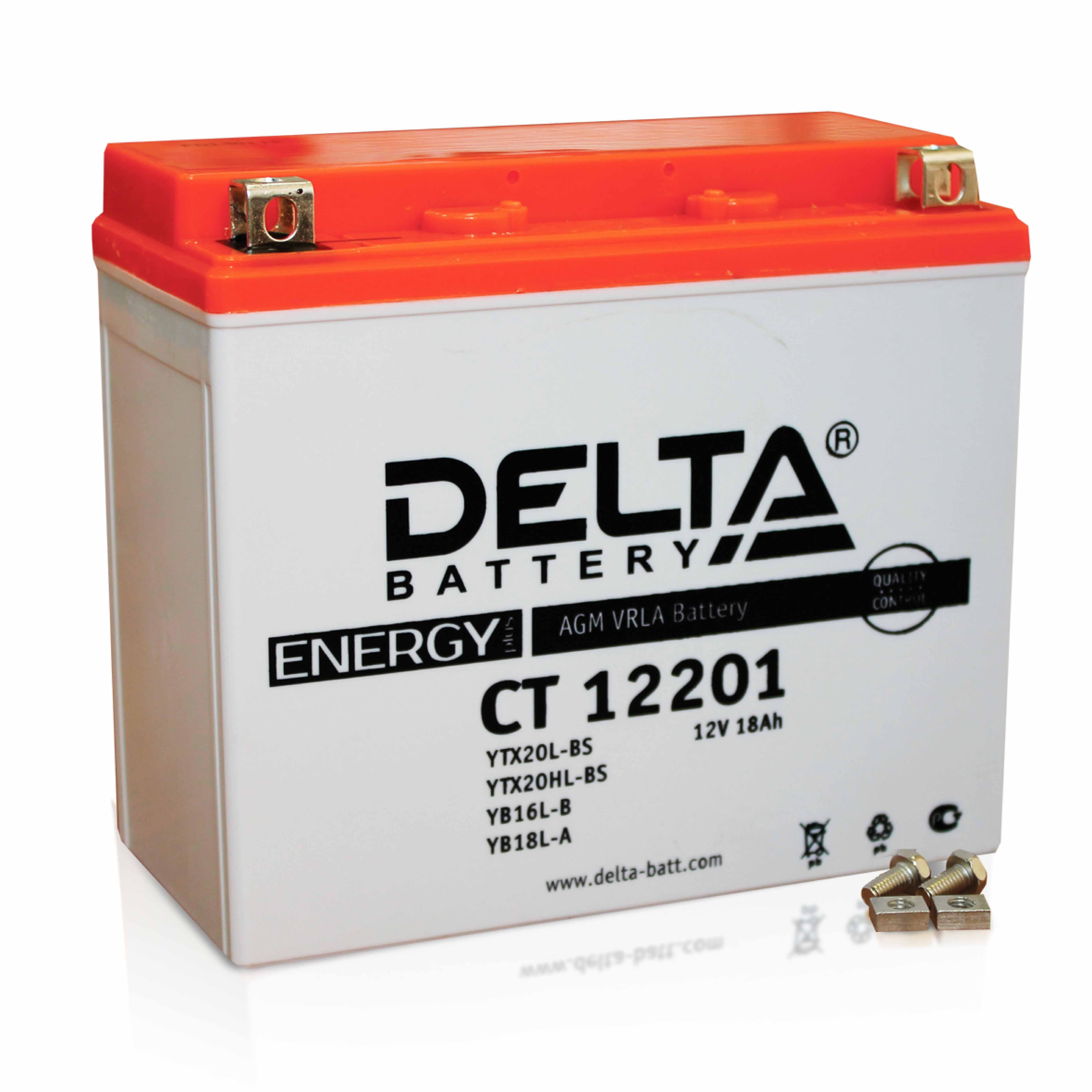 Аккумулятор Delta Battery CT12201, арт. CT12201
