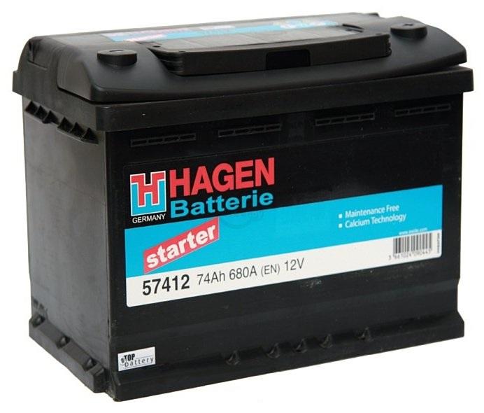 Аккумулятор Hagen 57412, арт. 57412