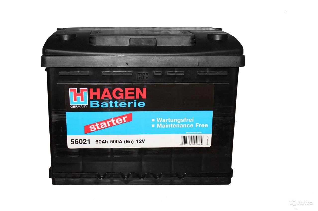 Аккумулятор Hagen 56021, арт. 56021