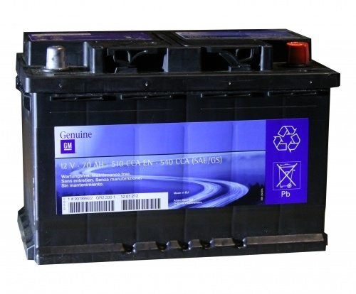 Аккумулятор General Motors 93189922, арт. 93189922