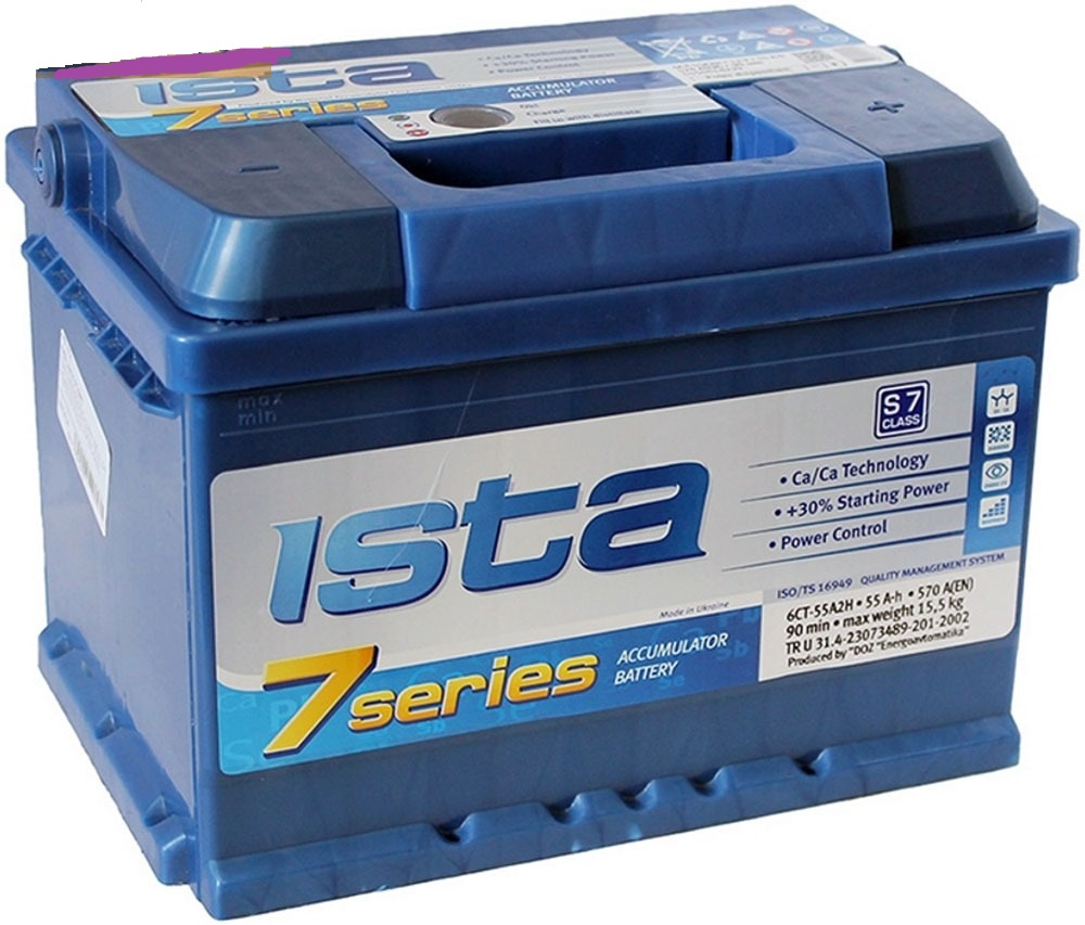 Аккумулятор Ista 6СТ-55А2HЕ, арт. 6СТ-55А2HЕ