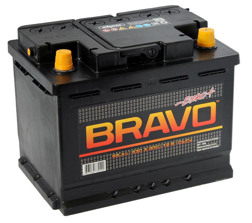 Аккумулятор Bravo 6СТ-55, арт. 6СТ-55VL 0