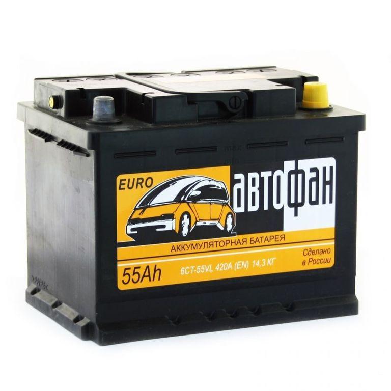 Аккумулятор Автофан 6СТ-55, арт. 555030000