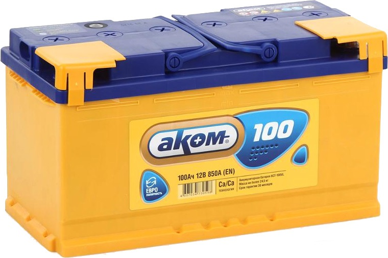 Аккумулятор Аком 6СТ-100, арт. 6СТ-100VL 0