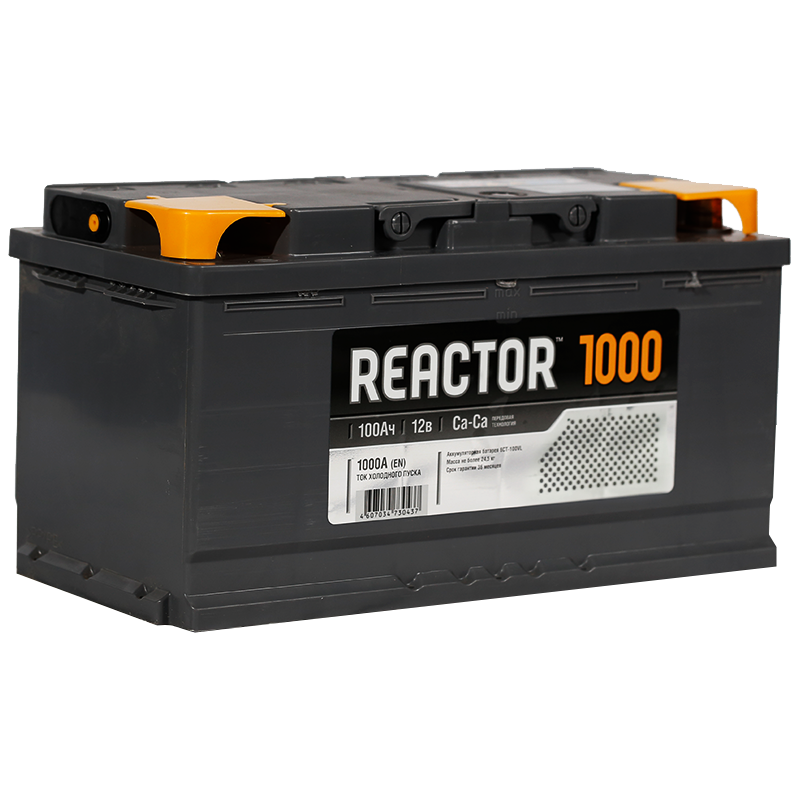 Аккумулятор Reactor 6СТ-100 рус., арт. 6СТ-100VL 1 REACTOR