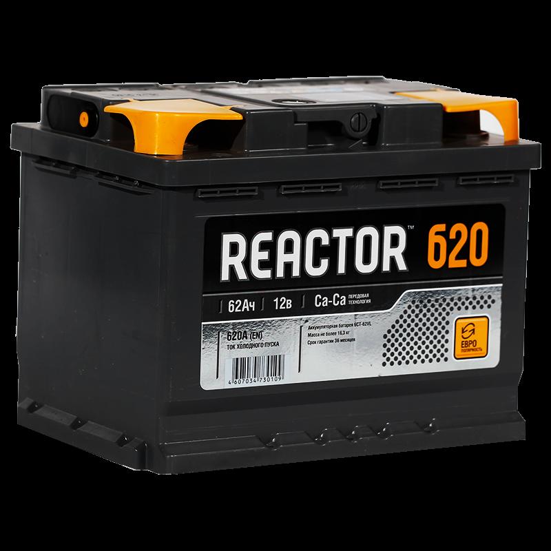 Аккумулятор Reactor 6СТ-62 рус., арт. 6СТ-62VL 1 REACTOR