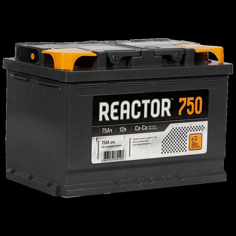 Аккумулятор Reactor 6СТ-75, арт. 6СТ-75VL 0 REACTOR