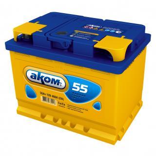 Аккумулятор Аком 6СТ-55 низкий, арт. 6СТ-55VL 0 LB