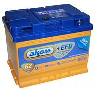 Аккумулятор Аком 6СТ-62+EFB, арт. 6СТ-62 0 +EFB