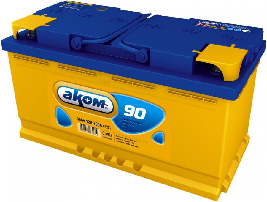 Аккумулятор Аком 6СТ-90, арт. 6СТ-90VL 0