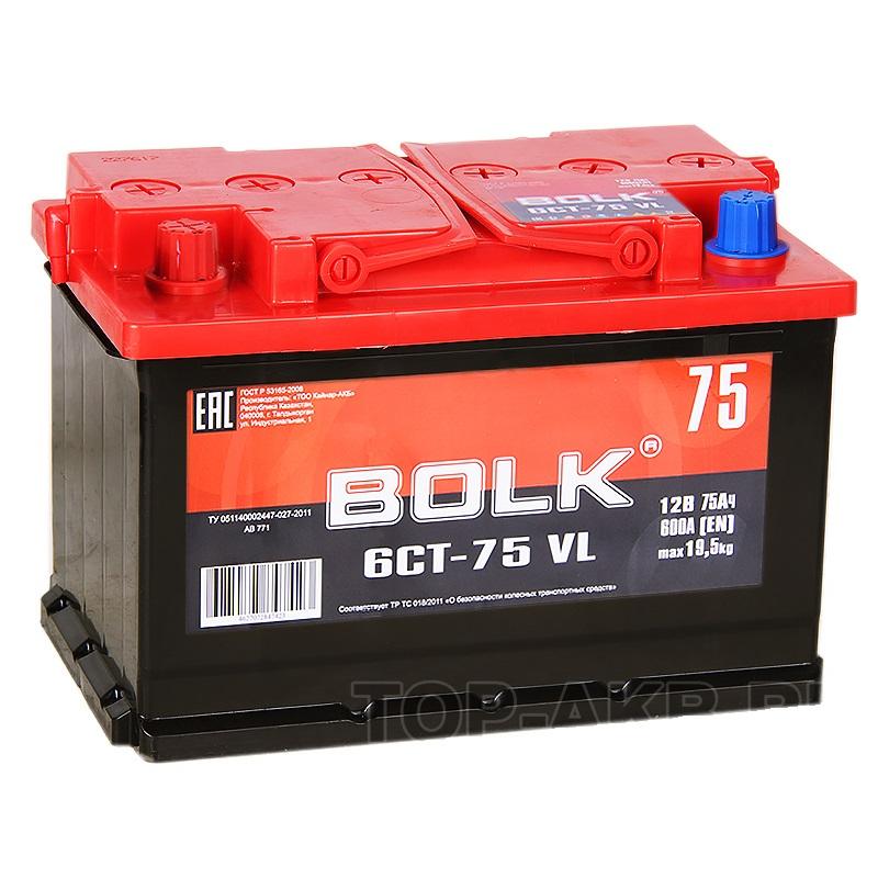 Аккумулятор Bolk 6CT-75 VL, арт. AB751