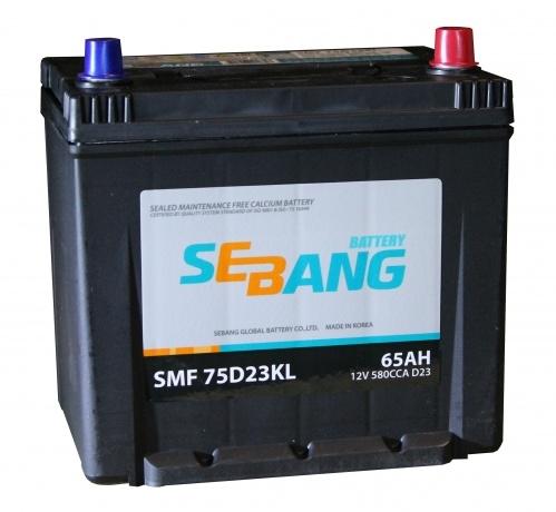 Аккумулятор Sebang SMF 75D23KL, арт. SMF 75D23KL
