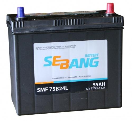 Аккумулятор Sebang SMF 75B24L, арт. SMF 75B24L