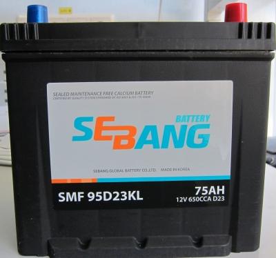 Аккумулятор Sebang SMF 95D23KL, арт. SMF 95D23KL