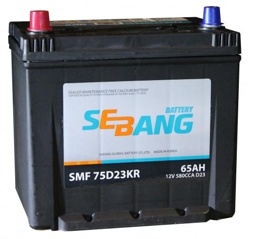 Аккумулятор Sebang SMF 75D23KR, арт. SMF 75D23KR