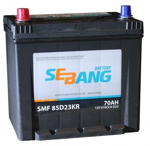Аккумулятор Sebang SMF 85D23KR, арт. SMF 85D23KR