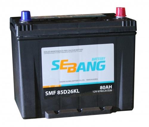Аккумулятор Sebang SMF 85D26KL, арт. SMF 85D26KL