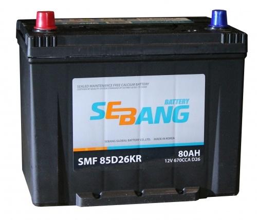 Аккумулятор Sebang SMF 85D26KR, арт. SMF 85D26KR