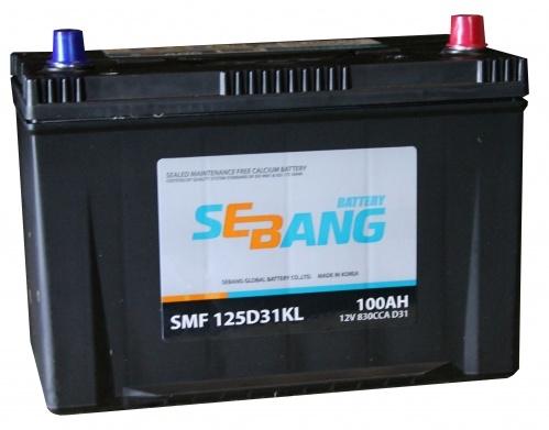 Аккумулятор Sebang SMF 125D31KL, арт. SMF 125D31KL