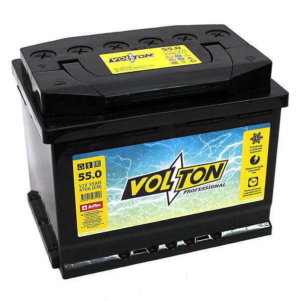 Аккумулятор Volton 6СТ-55.0, арт. 6CT550PRO