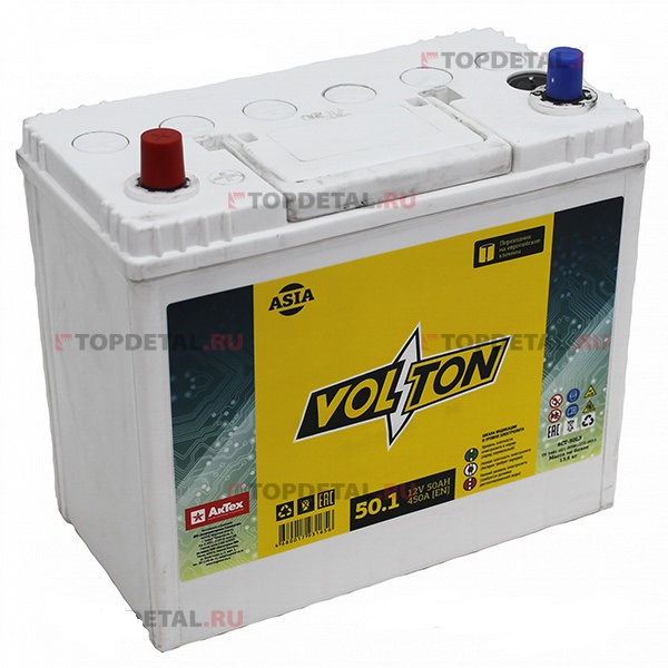 Аккумулятор Volton 6СТ-50.1, арт. 6CT501ASIA