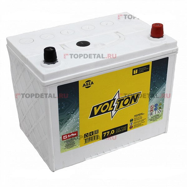 Аккумулятор Volton 6СТ-77.0, арт. 6CT770ASIA