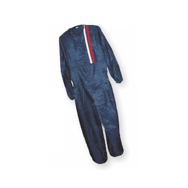 Комбинезон малярный, L, многоразовый, синий с красно-белыми полосами Русский мастер PM-93062