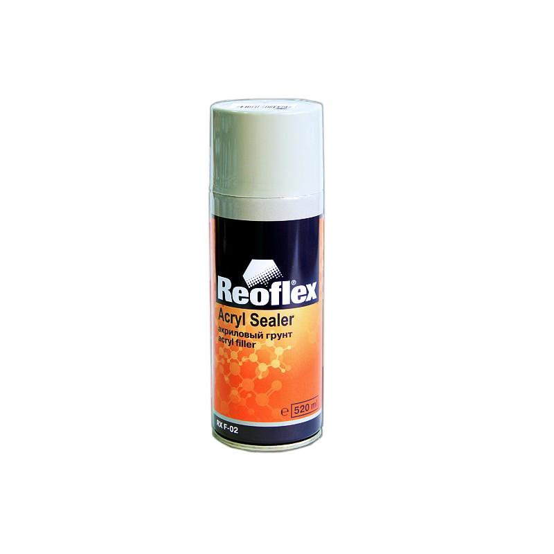Грунт акриловый REOFLEX Аэрозоль 1К, серый, 520мл