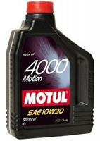 Масло моторное минеральное MOTUL 4000 MOTION 10W-30, 2л