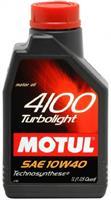 Масло моторное полусинтетическое MOTUL 4100 TURBOLIGHT 10W-40, 1л