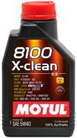 Масло моторное синтетическое MOTUL 8100 X-clean 5W-40, 1л