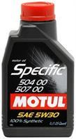 Масло моторное синтетическое MOTUL Specific 504.00-507.00 5W-30, 1л